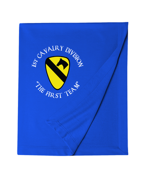 1st Cavalry Division Embroidered Dryblend Stadium Blanket (C)