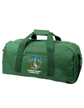 7th Cavalry Regiment Embroidered Duffel Bag