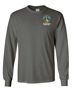 7th Cavalry Regiment Long-Sleeve Cotton Shirt  -Pocket
