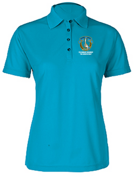 Ladies 7th Cavalry Regiment Embroidered Moisture Wick Polo Shirt