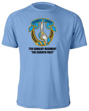 7th Cavalry Regiment Moisture Wick Shirt  -Chest