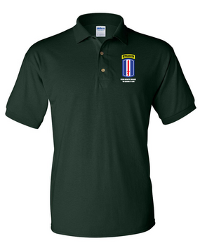 193rd Infantry Brigade w/ Ranger Tab Embroidered Cotton Polo Shirt