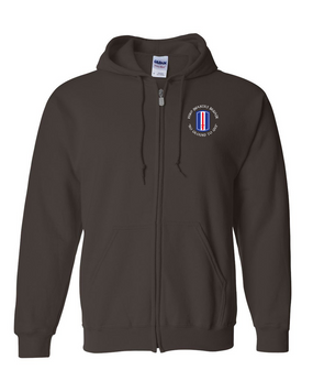 193rd Infantry Brigade Embroidered Hooded Sweatshirt with Zipper  (C)