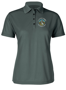 Ladies 7th Cavalry Regiment Embroidered Moisture Wick Polo Shirt  (C)