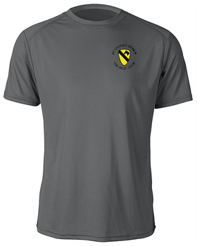 1st Cavalry Division Moisture Wick Shirt  -Pocket (C)