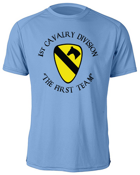 1st Cavalry Division Moisture Wick Shirt  -Chest (C)