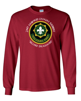 2nd Armored Cavalry Regiment Long-Sleeve Cotton Shirt  -Chest (C)