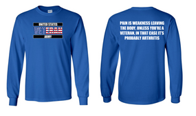 US Army Veteran Long-Sleeve Cotton Shirt  -Arthritis- (FF)