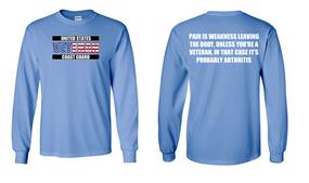 US Coast Guard Veteran Long-Sleeve Cotton Shirt  -Arthritis- (FF)