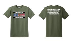 US Marine Corps Veteran Cotton T-Shirt -Arthritis-(FF)