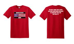 US Army Veteran Cotton T-Shirt -Evil-(FF)