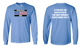 US Army Veteran Long-Sleeve Cotton Shirt  -Fought- (FF)