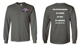 US Army Veteran Long-Sleeve Cotton Shirt  -Hate- (P)