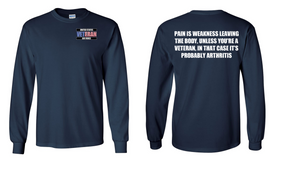 US Air Force Veteran Long-Sleeve Cotton Shirt  -Arthritis- (P)