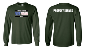 US Army Veteran Long-Sleeve Cotton Shirt  -Proudly- (FF)