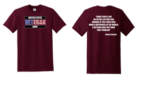 US Army Veteran Cotton T-Shirt -Reagin-(FF)