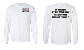 US Marine Corps Veteran Long-Sleeve Cotton Shirt  -Fence- (P)