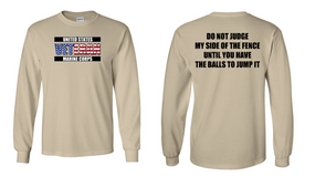 US Marine Corps Veteran Long-Sleeve Cotton Shirt  -Fence- (FF)