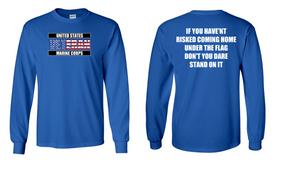 US Marine Corps Veteran Long-Sleeve Cotton Shirt  -Flag- (FF)