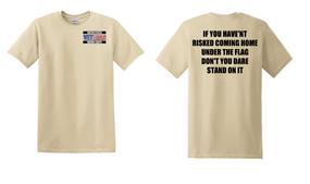 US Marine Corps Veteran Cotton T-Shirt -Flag-(P)