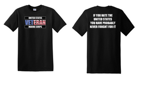 US Marine Corps Veteran Cotton T-Shirt -Fought-(FF)