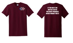 US Marine Corps Veteran Cotton T-Shirt -Fought-(P)