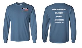 US Marine Corps Veteran Long-Sleeve Cotton Shirt  -Hate- (P)