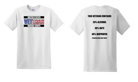 US Marine Corps Veteran Cotton T-Shirt -Hate-(FF)