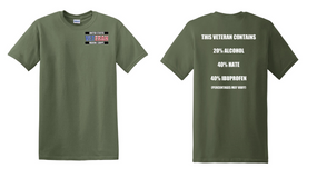 US Marine Corps Veteran Cotton T-Shirt -Hate-(P)