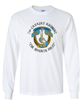 7th Cavalry Regiment Long-Sleeve Cotton Shirt  -Full Front (C)