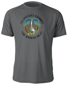 7th Cavalry Regiment Moisture Wick Shirt  -Chest (C)