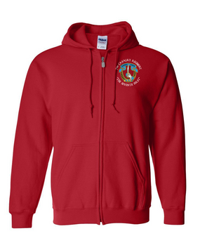 7th Cavalry Regiment Embroidered Hooded Sweatshirt with Zipper (C)