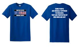 US Marine Corps Veteran Cotton T-Shirt -Morally-(FF)