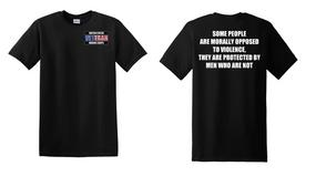 US Marine Corps Veteran Cotton T-Shirt -Morally-(P)