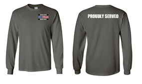 US Marine Corps Veteran Long-Sleeve Cotton Shirt  -Proudly- (P)