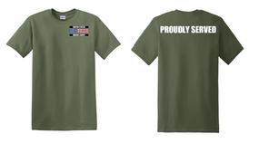 US Marine Corps Veteran Cotton T-Shirt -Proudly-(P)