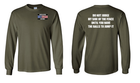 US Air Force Veteran Long-Sleeve Cotton Shirt  -Fence- (P)