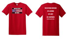 US Air Force Veteran Cotton T-Shirt -Hate-(FF)