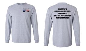 US Air Force Veteran Long-Sleeve Cotton Shirt  -Morally- (P)
