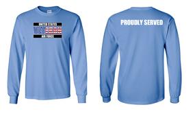 US Air Force Veteran Long-Sleeve Cotton Shirt  -Proudly- (FF)