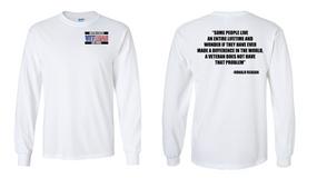 US Air Force Veteran Long-Sleeve Cotton Shirt  -Reagan- (P)