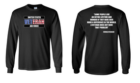 US Air Force Veteran Long-Sleeve Cotton Shirt  -Reagan- (FF)