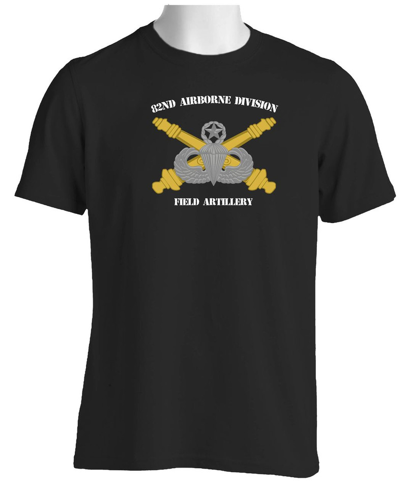 Custom moisture wick us army 82nd airborne division for Custom military unit t shirts