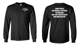 US Navy Veteran Long-Sleeve Cotton Shirt  -Morally- (P)