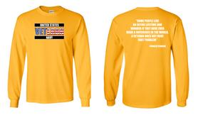 US Navy Veteran Long-Sleeve Cotton Shirt- Reagan- (FF)