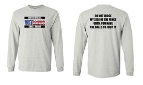 US Coast Guard Veteran Long-Sleeve Cotton Shirt- Fence- (FF)