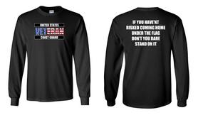 US Coast Guard Veteran Cotton Shirt- Flag- (FF)