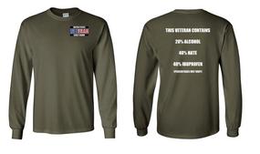 US Coast Guard Veteran Long-Sleeve Cotton Shirt- Hate- (P)