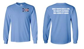 US Coast Guard Veteran Long-Sleeve Cotton Shirt- Lion- (P)