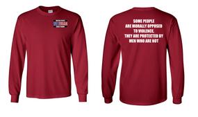 US Coast Guard Veteran Long-Sleeve Cotton Shirt- Morally- (P)